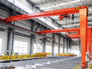 Jasa Pembuatan Overhead Hoist Crane Single Girder Semi Gantry Indonesia